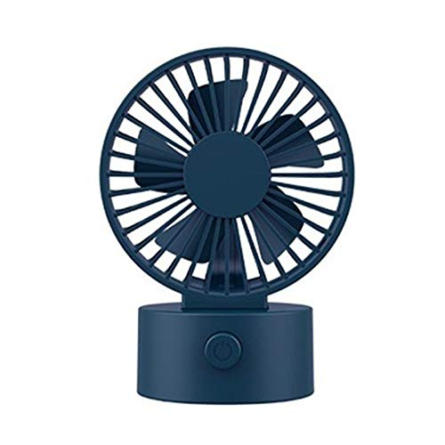 Mini ventilador de escritorio de 3 velocidades, ventilador de enfriamiento de circulación de aire usb plegable portátil, con funcionamiento silencioso de 5 cuchillas, para el hogar y la oficina,Azul
