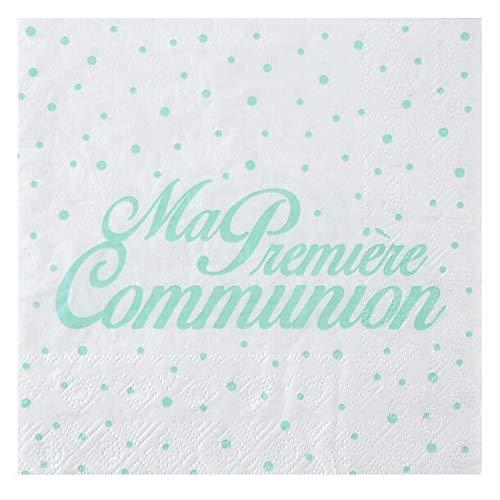 REF/6298-20 Serviettes de table communion mint