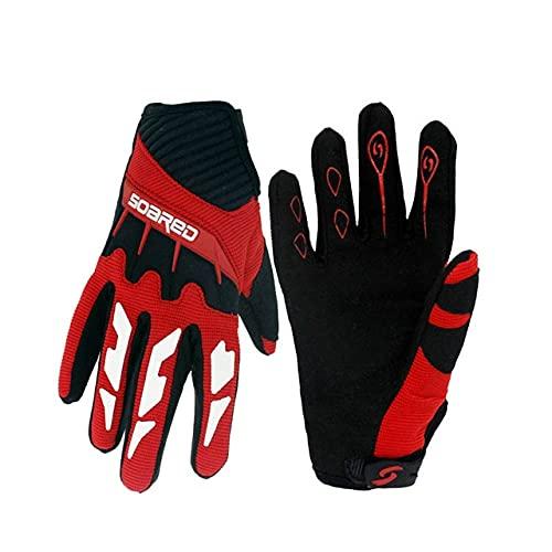Children Skating Gloves Full Finger Adjustable Quick-release Handwear Outdoor Sportswear Accessories, 3-12 Years Old-Red-5-XXS