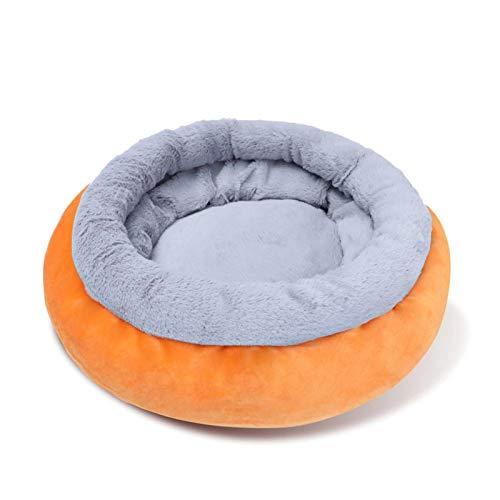XINGYUE Cama para perros y gatos supersuave, cojín redondo para sofá, cojín para dormir para perros pequeños y medianos