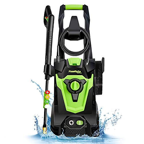 PowRyte Elite Electric Pressure Washer, Power Washer, 4 Different Pressure Tips, Foam Cannon, 4000 PSI 3.0 GPM Best for Cleaning Car, Home, Driveway, Deck