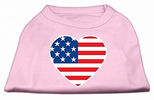 Mirage Amerikaanse Vlag Hart Screen Print Shirt