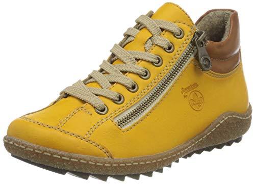 Rieker Damen L7516 Mode-Stiefel, gelb, 37 EU