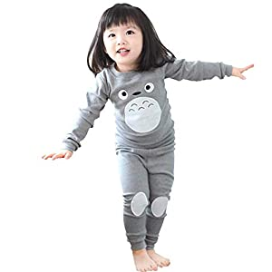 Kids Anime Pajamas Unisex Long Sleeve Tee and Pant Cotton PJ Set Puss Costume
