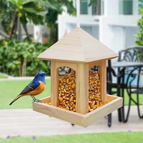 Bird Feeder with House Design,Bird Feeders Hanging Wild Bird Seed Feeder...