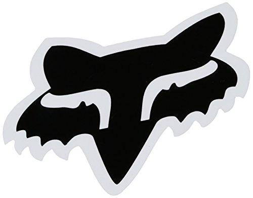 Fox Herren-Aufkleber, 10,2 cm, Schwarz, Einheitsgröße