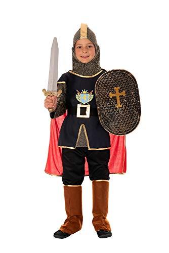 Magicoo mittelalterliches Ritterkostüm Kinder Jungen Gr. 110 bis 140 - König Ritter Kostüm Kind Fasching (110/116)