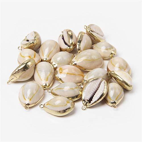 URNOFHW 12 Estilos 5pcs Cáscara Natural Colgante Conch Conch Shell Charms Colgante Natural al Azar para la joyería de Bricolaje Collares Que Hacen Accesorios (Color : 28)