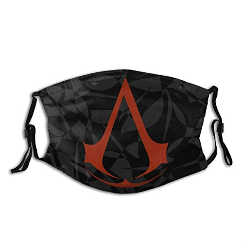 GIPHOJO Comfortable 3D Printed Portable Mask, Unisex,Bandana,Dust Scarf,Balaclava with Two Filters- Assassin's Creed