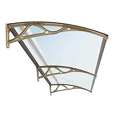 Outdoor Door Canopy Polycarbonate Door Canopy Awning Window Rain Shelter Cover Back Door Porch Canopy Rain Protector Awning (Color : Clear, Size : 80cmx160cm)