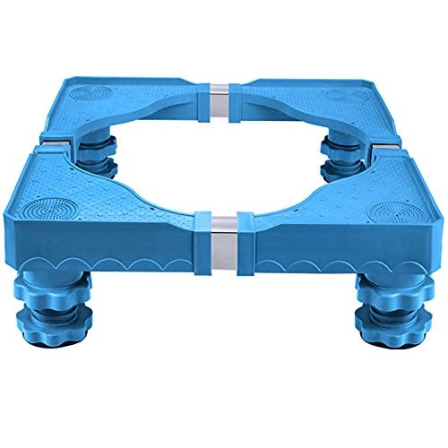Base Regolabile Per Frigorifero Lavatrice Stent Durevole, Per Asciugatrice, lavatrice e frigorifero, Portata max 400 kg, Lunghezza 50-62 cm, Larghezza 47-59 cm(Color:B)