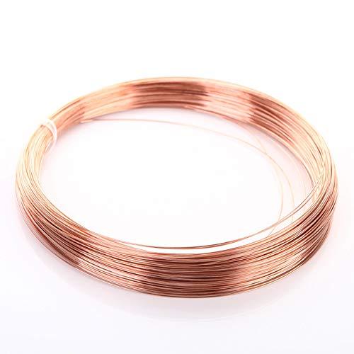 Blanker Kupferdraht 99,9% Vollkupferdraht aus reinem Kupfer, Drahtdurchmesser: 3 mm, Länge: 5 m