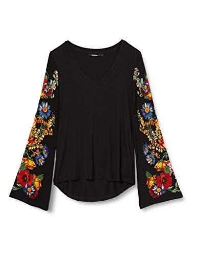 Desigual Damen TS_Claudina T-Shirt, Schwarz (Negro 2000), Large