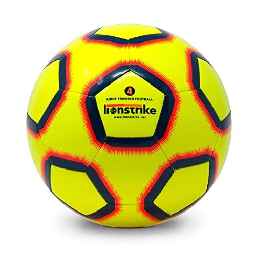 Lionstrike Größe 4 Lite Fussball - Leichter Trainingsfußball für Jungen/Mädchen im Alter von 7 bis 13 Jahren