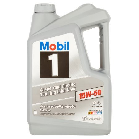 Mobil 1 15W-50 Advanced Full Synthetic Motor Oil,...