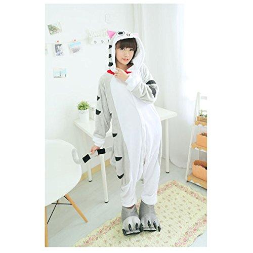 Black Sugar Mardi Gras CHI/L Chat CHI Pyjama GRENOUILLÈRE Kigurumi pour Adulte Adolescent Unisexe en Peluche Doux Confortable Bonne Qualité (L : 164-168cm)