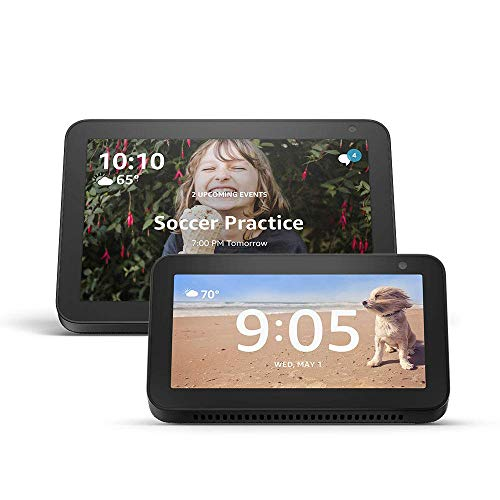 Echo Show 8 (Charcoal) with Echo Show 5 (Charcoal)