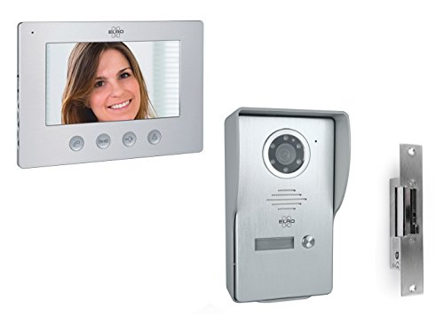 ELRO Video Türsprechanlage mit 7 Zoll Innenmonitor & Türöffner, 4-Draht Außenstelle mit Kamera