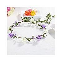 春のファッションの女性の女性女の子の結婚式の花の花輪クラウンヘッドバンド花花輪ヘアバンドヘアアクセサリー、8