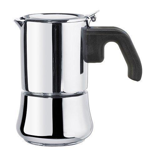 Xikea RADIG - Cafetera espresso para 3 tazas (acero inoxidable)