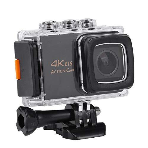 Mugast Ultra HD Action Camera, 4K WiFi 30FPS 20MP Anti-Shake Camcorder met Waterdichte Case voor Fietsen Klimmen Zwemmen Duiken