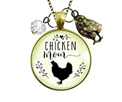 Chicken mom necklace is a perfect addition to gifts for chicken lovers