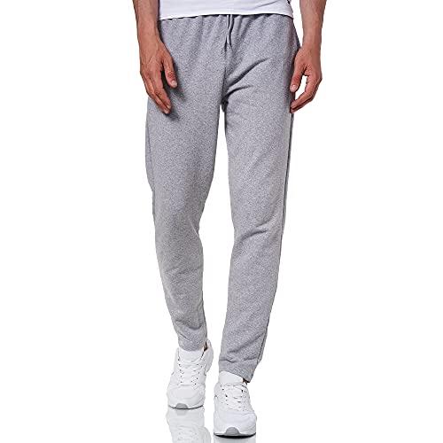 Smith Solo Jogginghose Herren – Jogger Männer Modern | Baumwolle Jungen Slim Fit Freizeithose | | Sporthose – Training – Trainingshose | Grau / Gerade, L