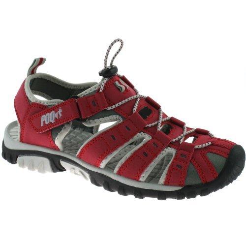 PDQ, Sandali sportivi donna Rosso rosso, Rosso (rosso), 5 UK