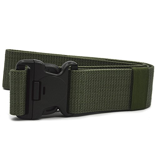 Beetest Extérieur la sangle en Nylon taille ceinture sangle avec boucle de charge crochets et boucles attache Army Green