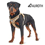 Auroth Tactical Dog Training Harness No Pulling Front Clip Leash Adhesion Reflective K9 Pet Working Vest Easy Control for Small Medium Large Dogs