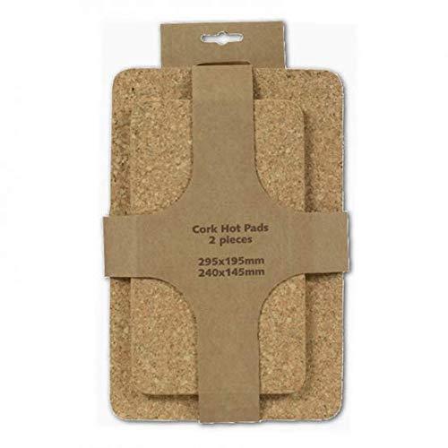 HOFMEISTER® Untersetzer, rechteckig, Verschiedene Größen, 2er Set, aus Kork, 34 cm