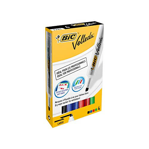 BIC Whiteboard Marker 1791 Punta smussata Multi 4pezzo(i) evidenziatore