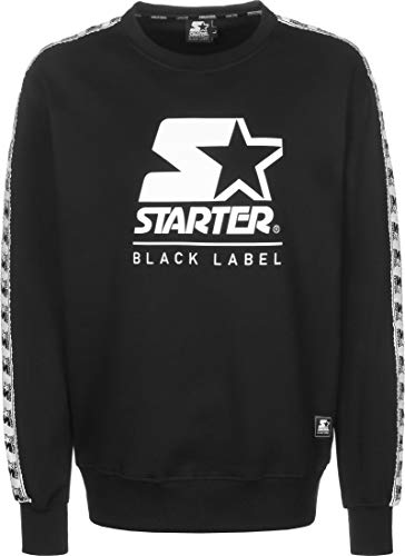 STARTER BLACK LABEL Mens Starter Logo Taped Crewneck Pullover Sweater, XL