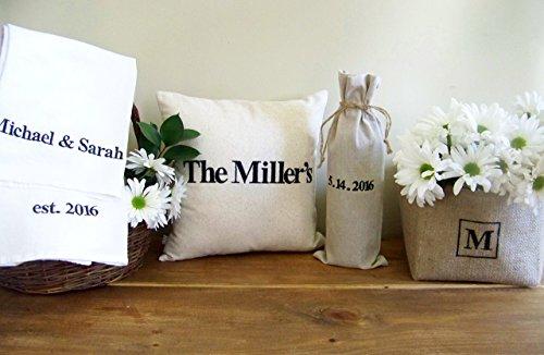 5 piece Personalized Wedding Gift Set