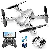 A10 Mini Drone con Cámara 720P HD Plegable FPV Control...