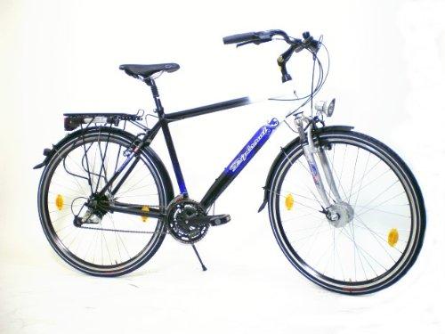 MIFA Herren Trekkingrad 24 Gang, schwarz/weiß, 52 cm, 28 Zoll, MT321-02