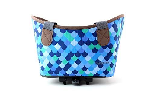Racktime Unisex– Erwachsene Agnetha Fahrradkorb, Blau, 1size