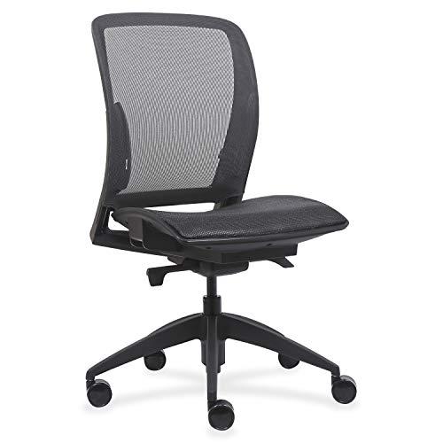 Lorell USA Seating Adorn Chair, 45' x 26.5' x 25', Black