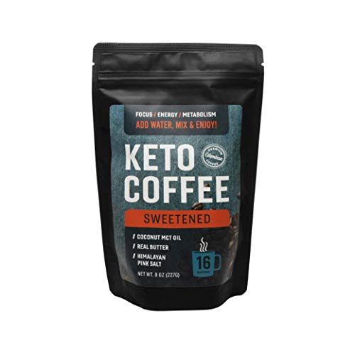 360 Nutrition Keto Coffee Instant 8 oz | Sweetened | 16 Servings per bag | MCT Coconut Oil, Organic Grass-Fed Butter, Himalayan Sea Salt