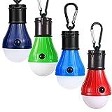JTENG 3 Stücke Campinglampe LED mit Karabiner Camping Lantern Tragbare Laterne Zelt Leuchtmittel Zeltlampe Glühbirne Set für Camping, Abenteuer,Angeln (3 Stücke)
