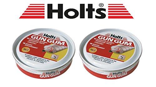 Holts PRAKTISCHES Set! 2 x 200g ORIGINAL Gun Gum Paste Auspuff-Dichtungspaste Auspuffmontagepaste Auspuff Reparatur