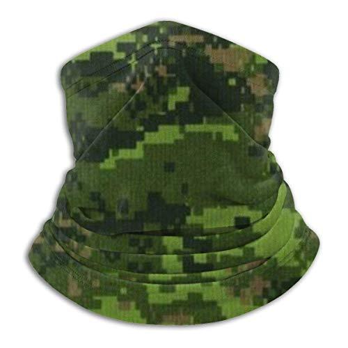 De Li Sheng Schlauchschal Herren,Halswärmer Warm Green Army Digital Camouflage Neck Warmer Neck Gaiter Tube Face For Cold Weather Fleece Unisex Windproof Thermal