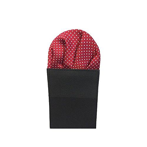 Label-Cravate Pochette de costume pliée rouge-bordeaux finitions main