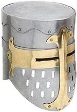 Unique Shop Steel Knights Templar Crusader Helmet Medieval Armor, Silver