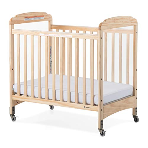 Find Discount 2020 Foundations Compact Serenity Crib Fixed-Side W/Adjustable Mattress Board, Clearvi...
