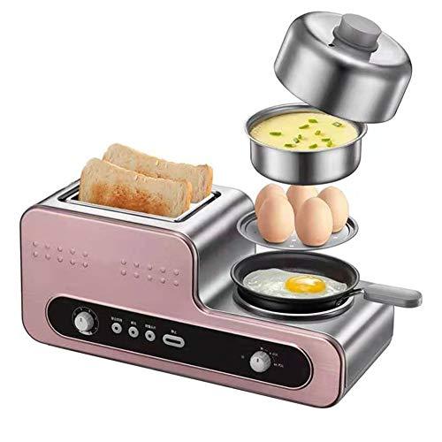 Edelstahl Toaster 2 Slice, 1230W Haushalts-Brotbackautomat, Großzügige Slots, 6-stufige Verstellung, Roségold