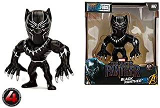 "Metalfigs Marvel Black Panther Theatrical Movie Package Collectible Figure, 4"", Black"