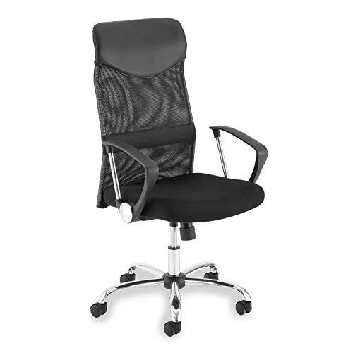 IDIMEX Schreibtischstuhl Bürodrehstuhl Chefsessel Bürostuhl Norbert, Netzbezug in schwarz, höhenverstellbar
