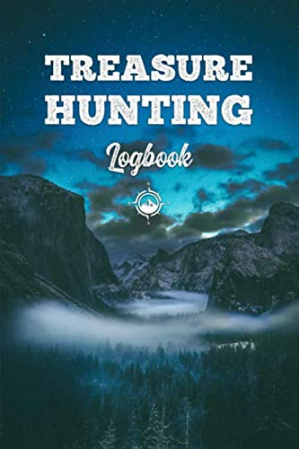 Treasure Hunting Log Book Journal Notebook Diary Planner - Foggy Night: Geo Hunt Record with 120 Pages In 6