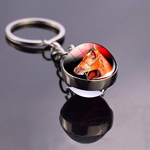 Bijvoorbeeld sleutelhanger paard sleutelhanger paard double side kunst Picture glazen bol sleutelhanger Roba pendan sleutel geschenkenhanger